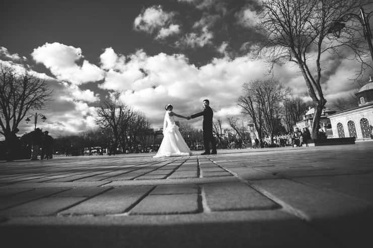 Düğün Fotoğrafı siyah beyaz