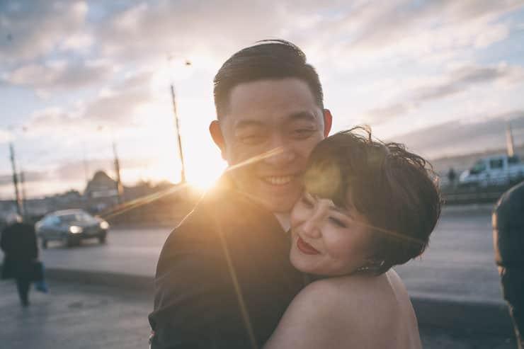Düğün Fotoğrafı gun batımı