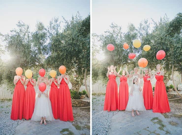 bridamades and baloons