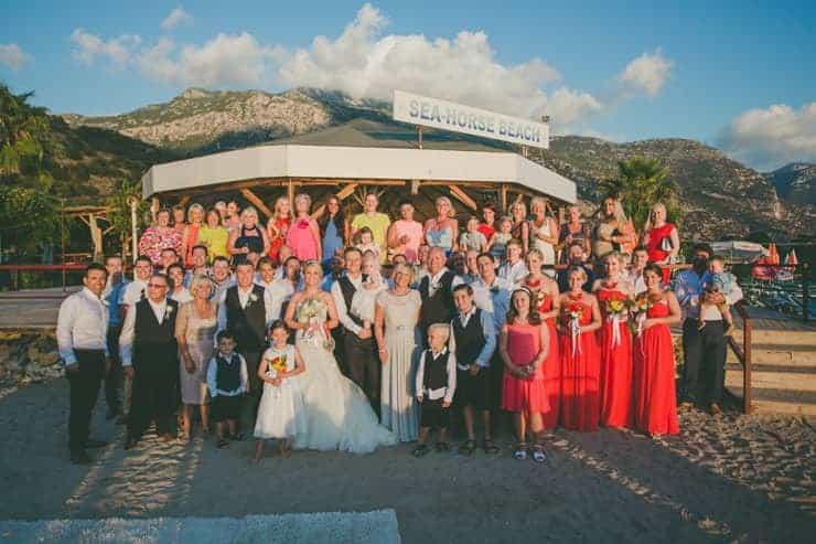 tüm ekip düğünde