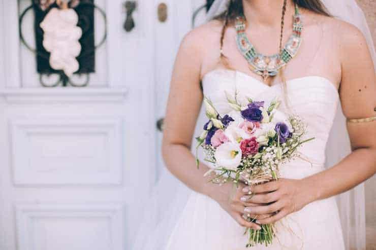 Düğün Fotoğrafı gelin çiçekle