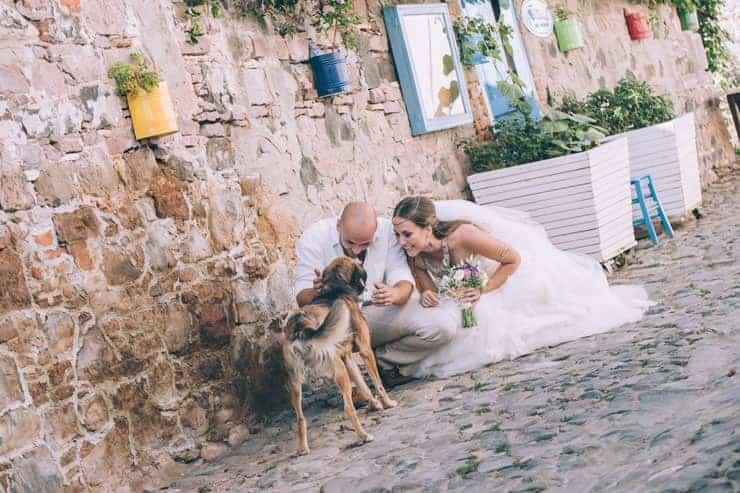 Düğün Fotoğrafıcunda sokaklarda