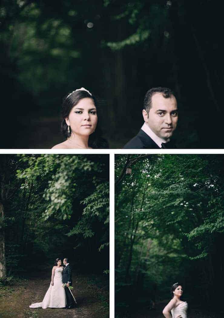 Düğün Fotoğrafı - ormanda pozlar