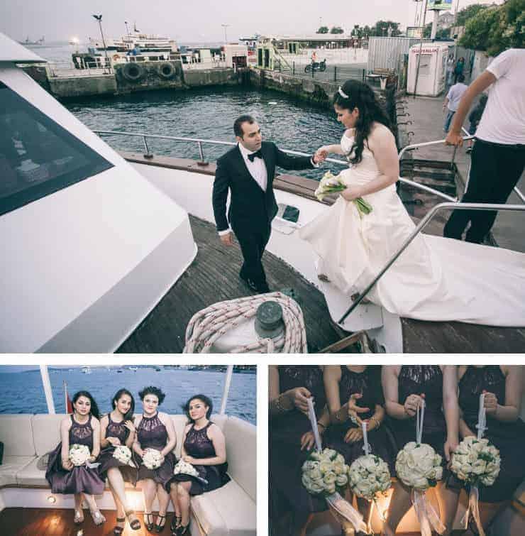 Düğün Fotoğrafı teknede
